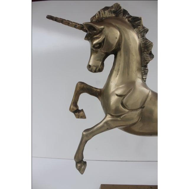 1970s Regency Solid Brass Unicorn Sculpture - Image 8 of 8