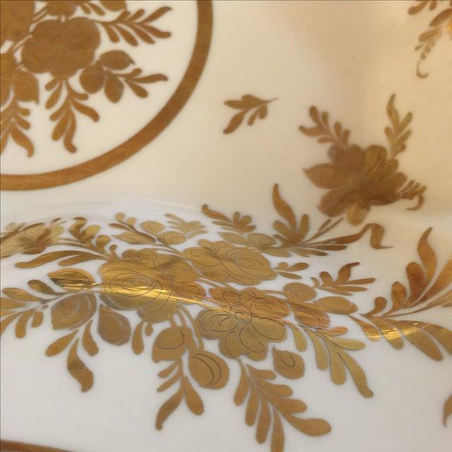 French Gold & White Porcelain Bowl - Image 4 of 5