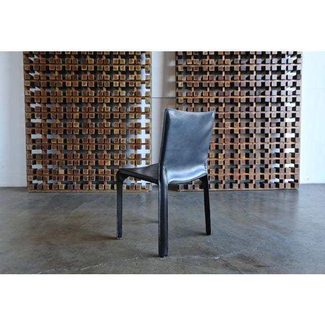 """Modern Black Leather """"Cab"""" Chair by Mario Bellini for Cassina For Sale - Image 3 of 11"""