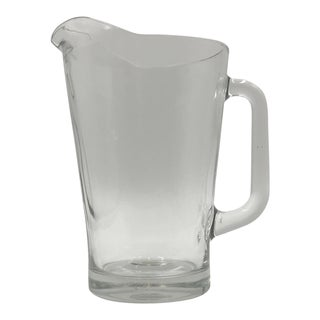 Large Italian Crystal Water Pitcher 56 Ounce For Sale