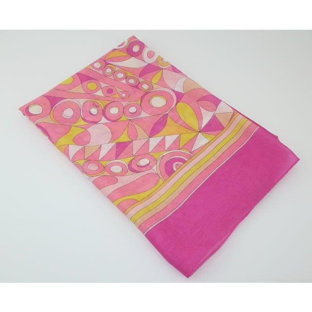 Perfect for warmer weather and sultry days at the beach! This fine muslin cotton Emilio Pucci scarf is both long and...