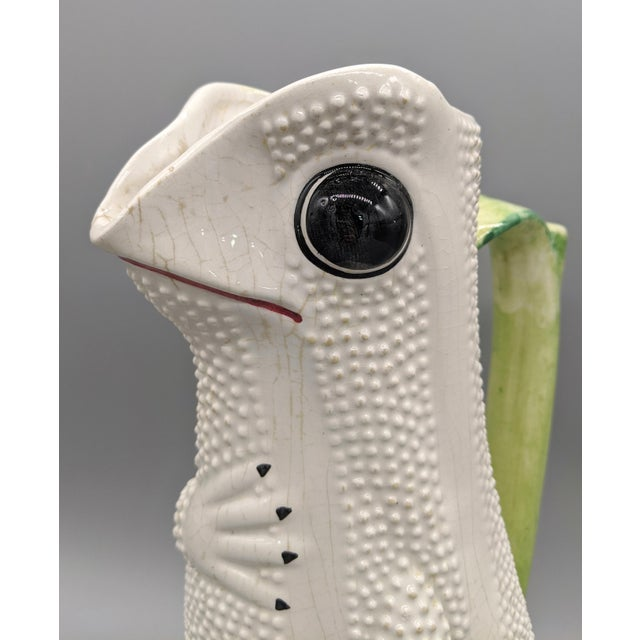 Hollywood Regency Mid-Century Italian White Hobnail Frog Pitcher For Sale - Image 3 of 13