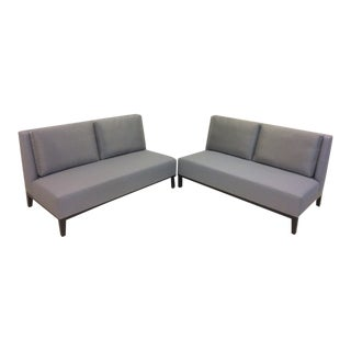 Loveseat and Corner Side Table Set For Sale