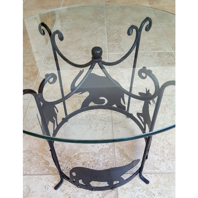 20th Century Figurative Hand Crafted Iron Carousel Side Table For Sale In Phoenix - Image 6 of 8