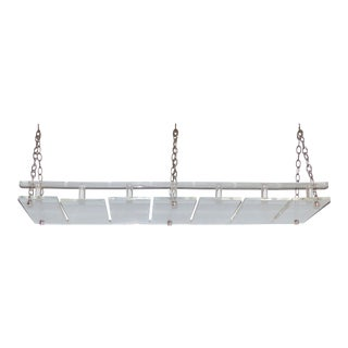 Mid-Century Modern Lucite & Chrome Hanging Stemware Glasses Rack For Sale