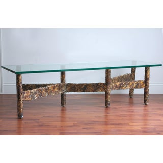 1970s Brutalist Metal Coffee Table Preview