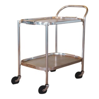 Kaymet Polished Aluminum Bar Cart C.1950