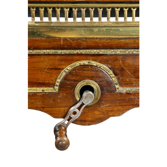 Louis XVI Walnut Architects Table a La Tronchin For Sale - Image 10 of 13