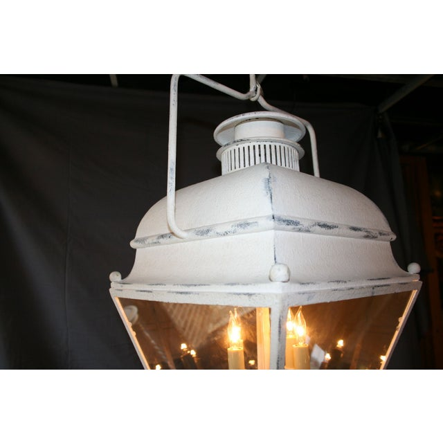 Large White Colonial Lantern - Image 5 of 7