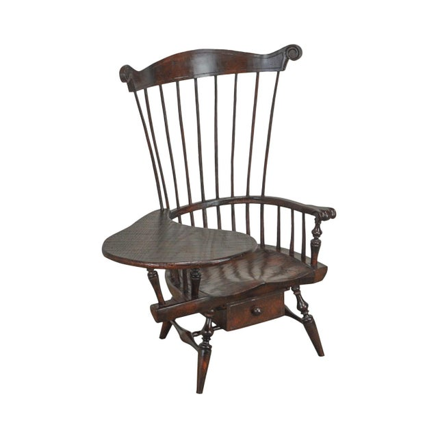 Windsor Style Miniature Childs Writing Arm Chair by K. Malone (18th Century Reproduction) For Sale - Image 13 of 13