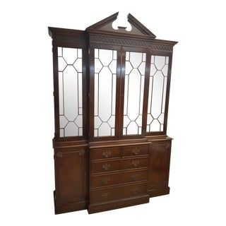 Trosby English Traditional Breakfront Cabinet For Sale