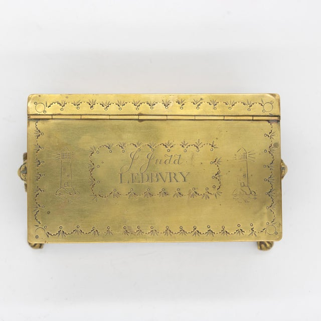 English Dutch Style Brass Table Top Cigarette / Tobacco Boxes, Early 19th Century - a Pair For Sale - Image 4 of 10