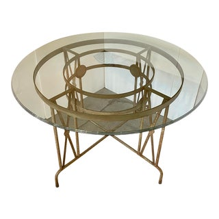 1930 French Art Deco Outdoor Dining Table For Sale