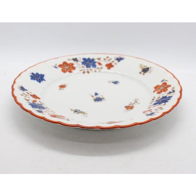 Blue Antique German Porcelain Floral Dessert or Salad Plates - Set of 4 For Sale - Image 8 of 9