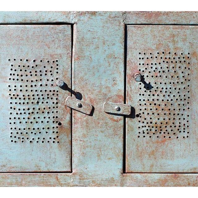 2-Door Blue Vintage Iron Rack - Image 4 of 5