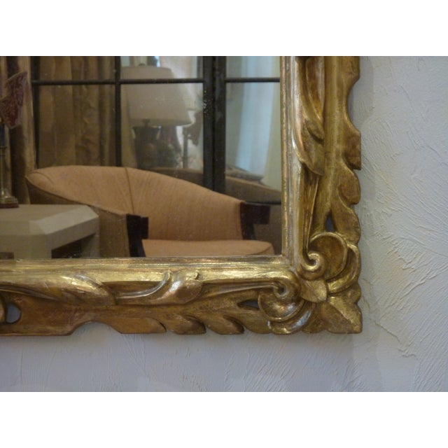 19th C. Italian Carved Giltwood Mirror - Image 2 of 6