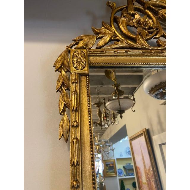 1940s Vintage Hollywood Regency Gilt Accent Mirror For Sale - Image 5 of 7