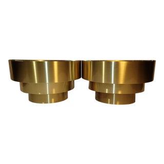 Lightolier 3 -Tier Brass Sconces - A Pair