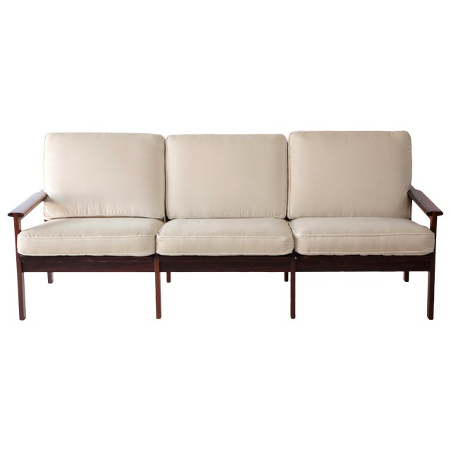 1970s Swedish Rosewood Sofa in the Style of Finn Juhl For Sale