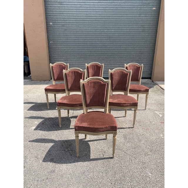 1910s Vintage French Louis XVl Solid Mahogany Dining Chairs - Set of 6 For Sale - Image 13 of 13