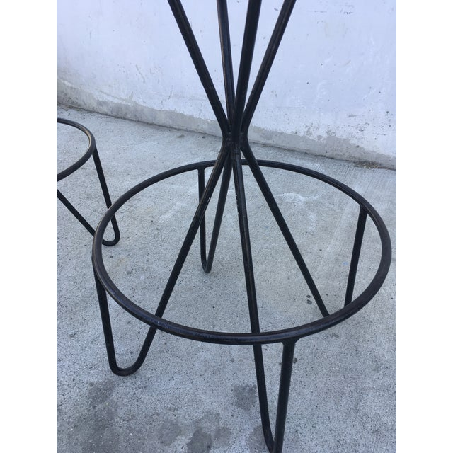 1950s 1950s Vintage Paul Tuttle Iron Bar Stools - Set of 4 For Sale - Image 5 of 13