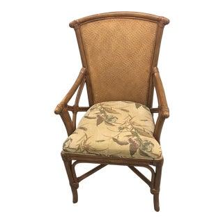 Vintage Rattan Arm Chair For Sale