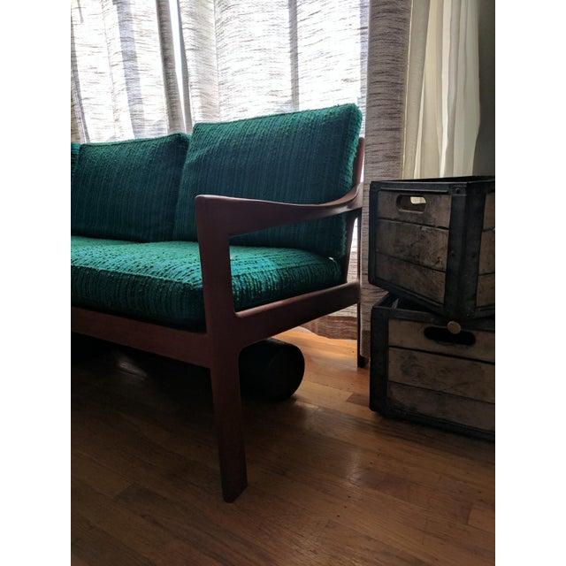Vintage Modern Danish Teak Parlor Couch - Image 4 of 5
