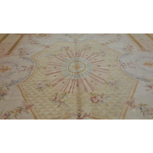 14'x19' Aubusson Design Hand Made Knotted Rug - Size Cat. 12x18 13x20 - Image 11 of 12