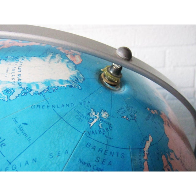 "This extra large vintage globe is the perfect addition to your mid century industrial decor or classroom! A huge 16"" in..."