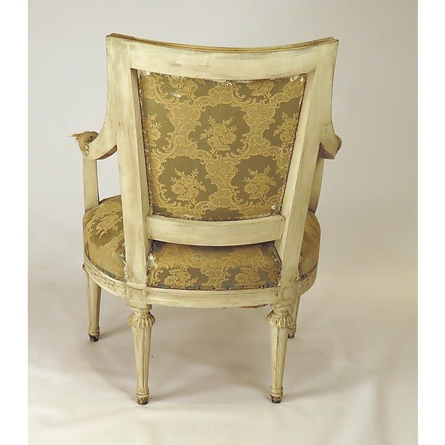Made in Sweden late in the 19th or early in the 20th century. A very nice pair of Louis XVI style armchairs with well...