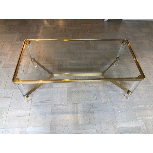 Metal Safavieh Acrylic Coffee Table For Sale - Image 7 of 7