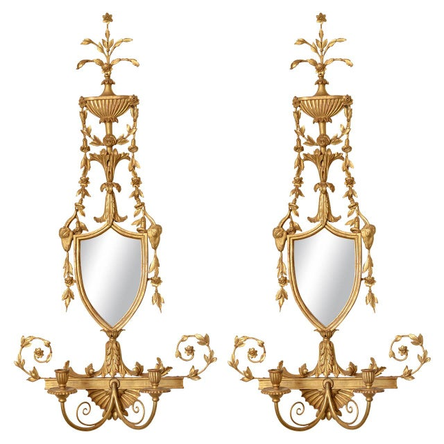 19th C. Giltwood Mirrored Sconces - a Pair For Sale - Image 11 of 11