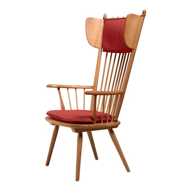 Albert Haberer Wingback Armchair, Germany, Circa 1950 For Sale