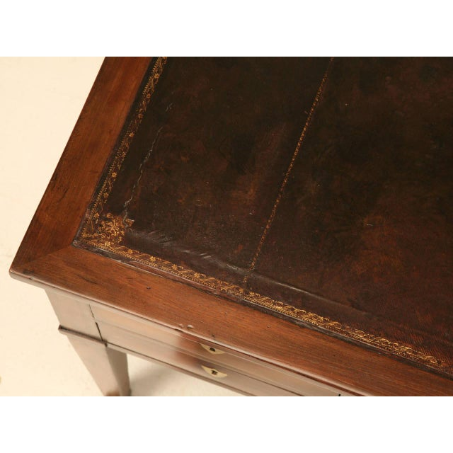 Animal Skin Antique French Mahogany Desk For Sale - Image 7 of 11