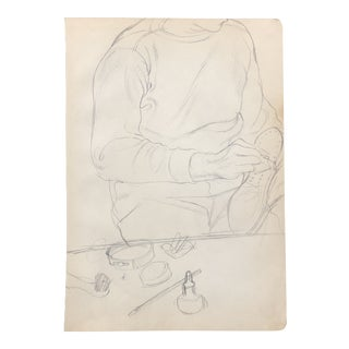 Cobbler Figure Drawing 1961 For Sale