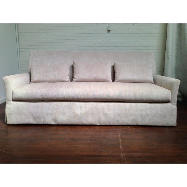 Linen RJones Charleston Skirted Sofa For Sale - Image 8 of 8