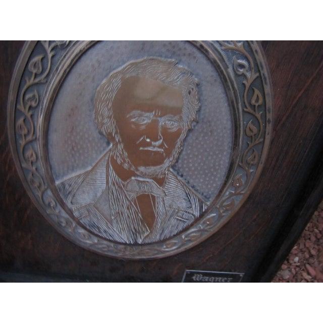Antique Framed Wagner Plaque For Sale - Image 6 of 8