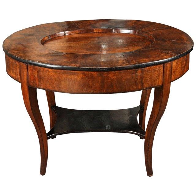 Early 20th Century Georgian Burl Wood Tray Top Coffee Table For Sale