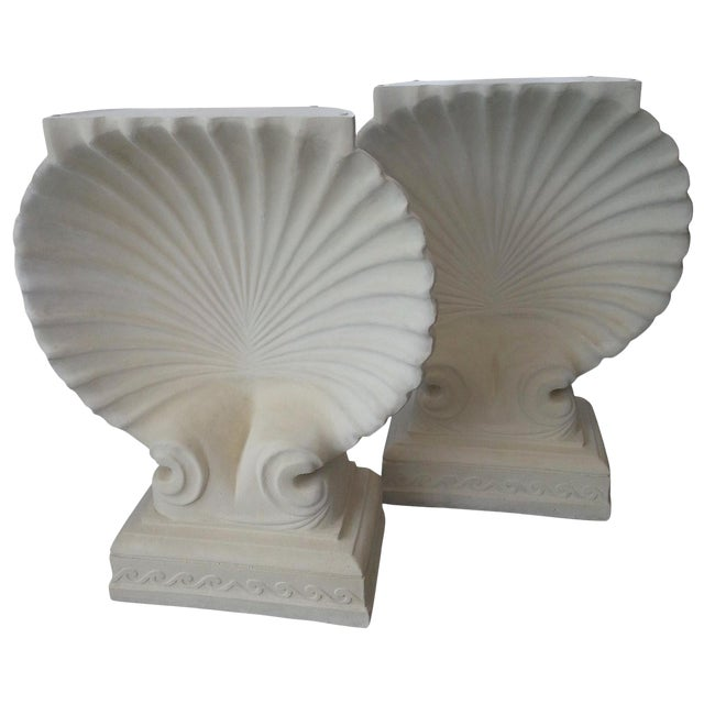 Scallop Clam Shell Console Bases - a Pair For Sale