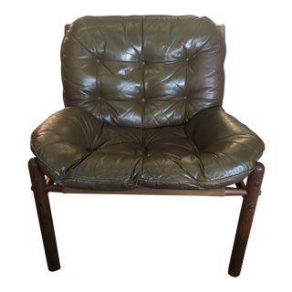 1950s Vintage Arne Norell for Scanform Safari Lounge Chair For Sale