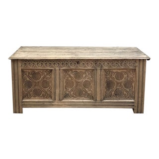 18th Century Country French Stripped Trunk For Sale