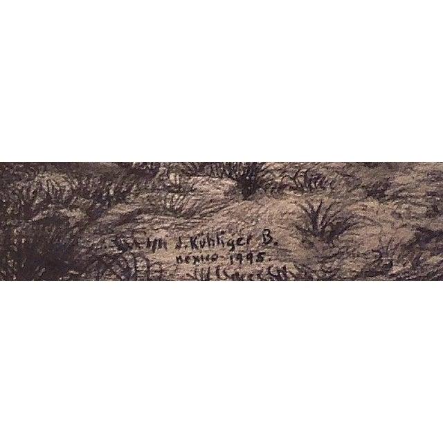 "Figurative Illustration of Mayan Ruins, ""Habitat Maya No.8"" For Sale - Image 3 of 4"