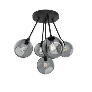 Ballroom Molecule Chandelier - Black / Smoke For Sale