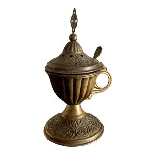 Early 20th Century Brass Incense Burner For Sale