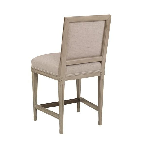 Chaddock Chaddock - Delphine Counter Stool - Gray For Sale - Image 4 of 5