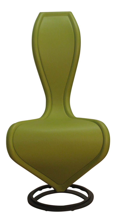 Italian Cappellini Tom Dixon U0027Su0027 Chair In Lime Green Leather
