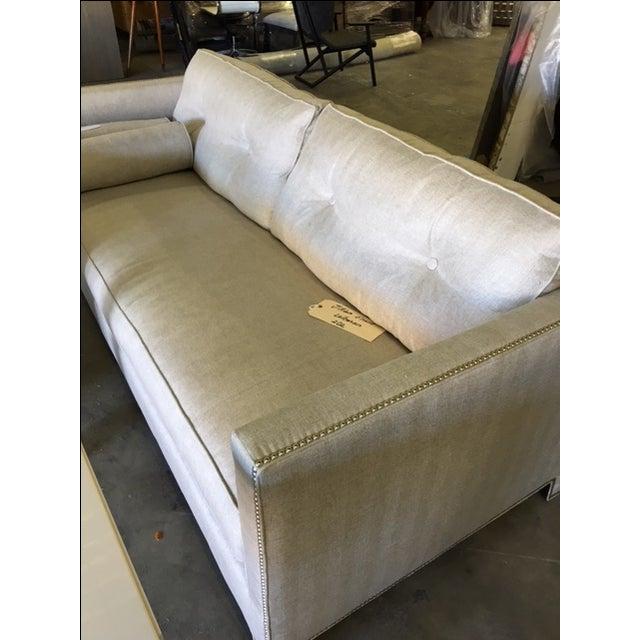 Contemporary Linen Sofa - Image 9 of 9