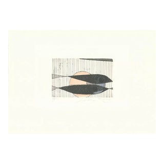 1990s Abstract Sea Life Etching by Enrico Della Torre For Sale