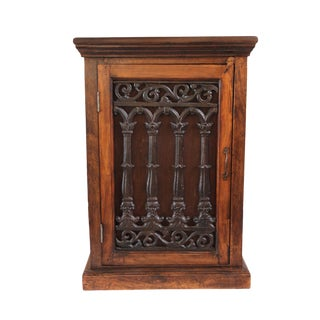 Mango Wood & Iron Bedside Cabinet For Sale