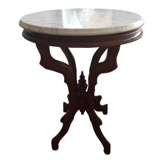 1910s Art Nouveau Marble Top Side Table 2 Items for $1,200 For Sale